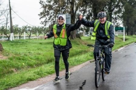 En la ruta: maratón solidaria une Montevideo con Paysandú